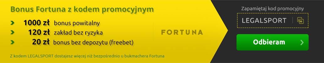 Bonus Fortuna z kodem promocyjnym