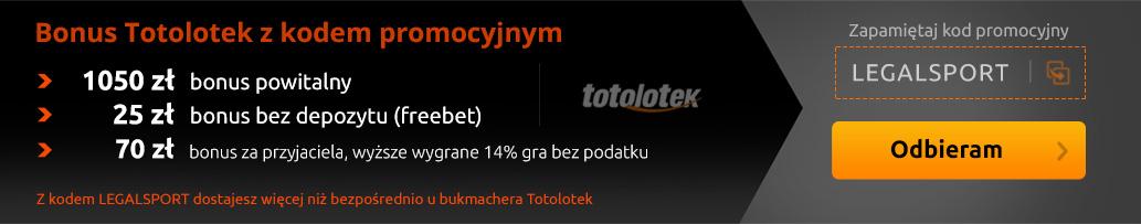 Bonus Totolotek z kodem promocyjnym