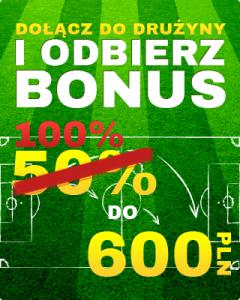 Oferta bonusu powitalnego 600 zł dla nowych graczy