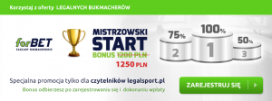 Bonus 1250 zł - oferta dla początkujących graczy, bonus otrzymasz po rejestracji