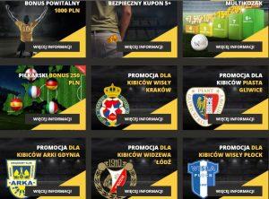 Zrzut ze strony lvbet - logoa sponsorowanych klubów piłkarskich