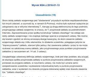 Screen uzasadnienia wyroku NSA II GSK 847 14