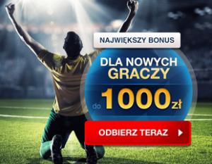 Do odebrania bonus do 1000 zł dla graczy początkujących