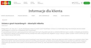 screen komunikatu mBanku