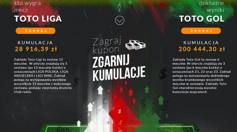 screen oferty Toto-Liga i Toto Gol Totolotka