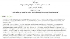 screen wyroku WSA w Łodzi
