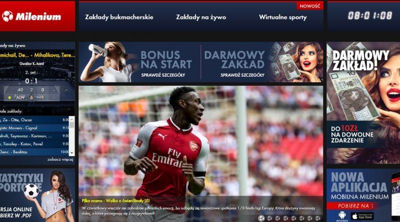 screen strony internetowej Milenium