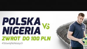 screen zdjęcia promocyjnego forBET przed meczem Polska - Nigeria