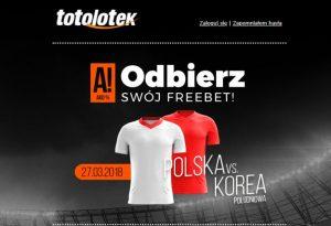 Totolotek przygotował nową promocję dla graczy -  freebet na reprezentację!