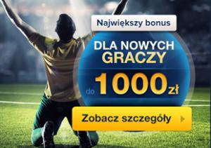 Bonus 1000 zł - promocja dla nowych graczy