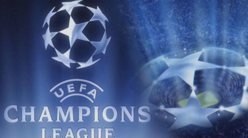 logo Ligi Mistrzów UEFA na niebieskim tle