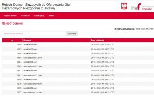 screen rejestru domen zakazanych