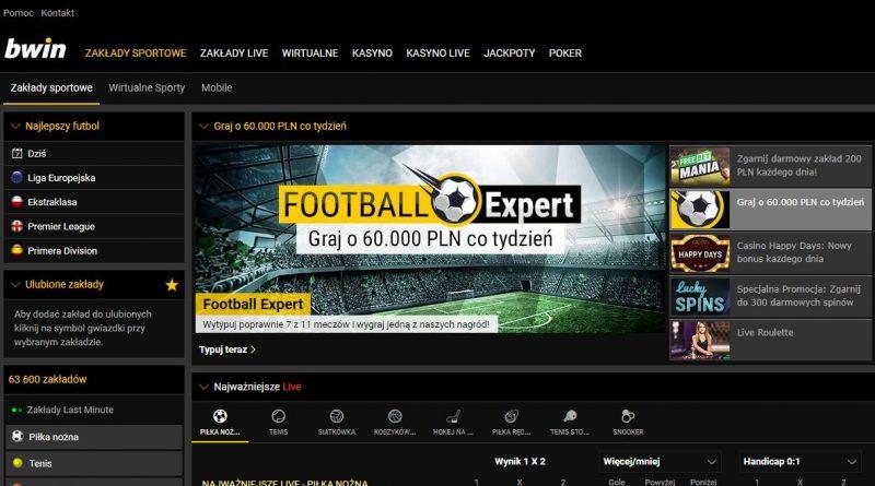 screen strony internetowej bwin