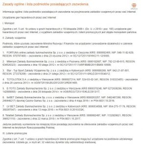 screen listy buków online z licencja MF
