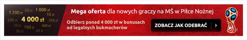 Bonusy bukmacherskie dla nowych graczy - do odbioru ponad 4000 zl z kodami bonusowymi