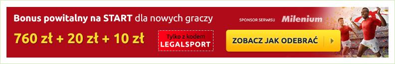 Oferta dla nowych graczy - 3 bonusy powitalne z kodem promocyjnym LegalSport