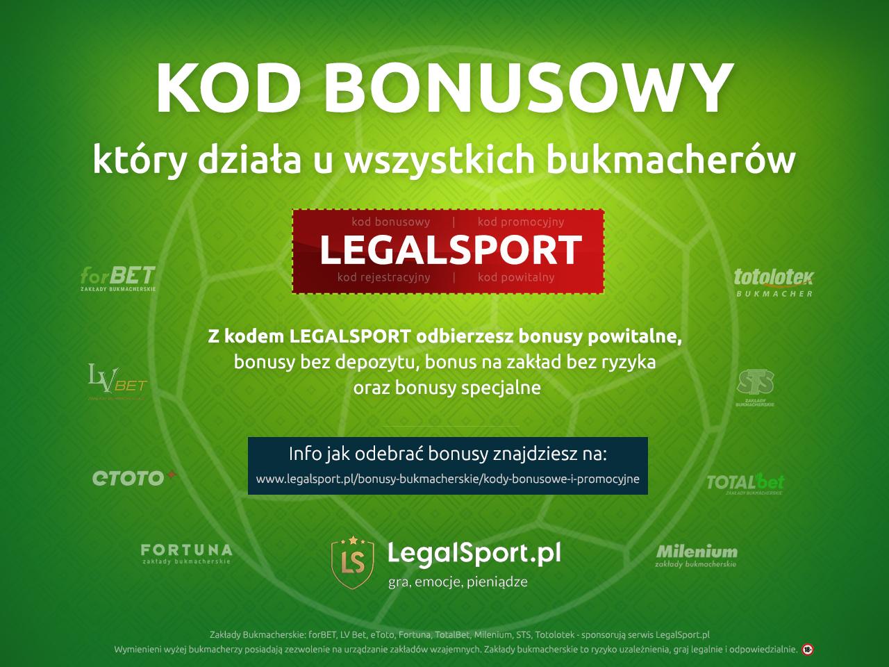 Kod bonusowy który działa u wszystkich legalnych bukmacherów w Polsce