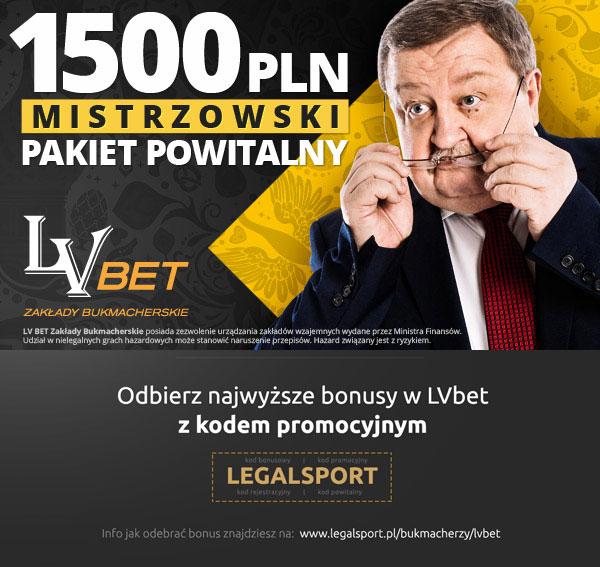 Mistrzowska promocja LVbet z pakieyem powitalnym 1500 zł i 20 zł bonusem bez depozytu