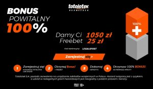 1050 zł na start i freebet 25 zł - bonus Totolotka na mundial