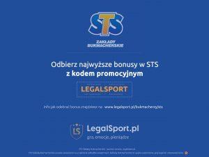 STS - logo bukmachera i kod LEGALSPORT
