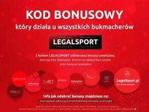Bonusy na start z kodem LEGALSPORT