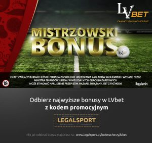 mundialowa promocja LVbet - Mistrzowski Bonus