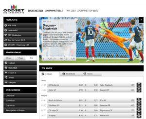 Oddset Sportwetten - legalny niemiecki bukmacher