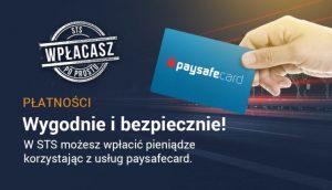 Legalny bukmacher STS udostępnił płatności przez Paysafecard
