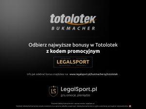 Bukmacher Totolotek i kod rejestracyjny LEGALSPORT