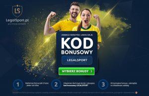 LEGALSPORT - najlepszy na rynku kod bonusowy