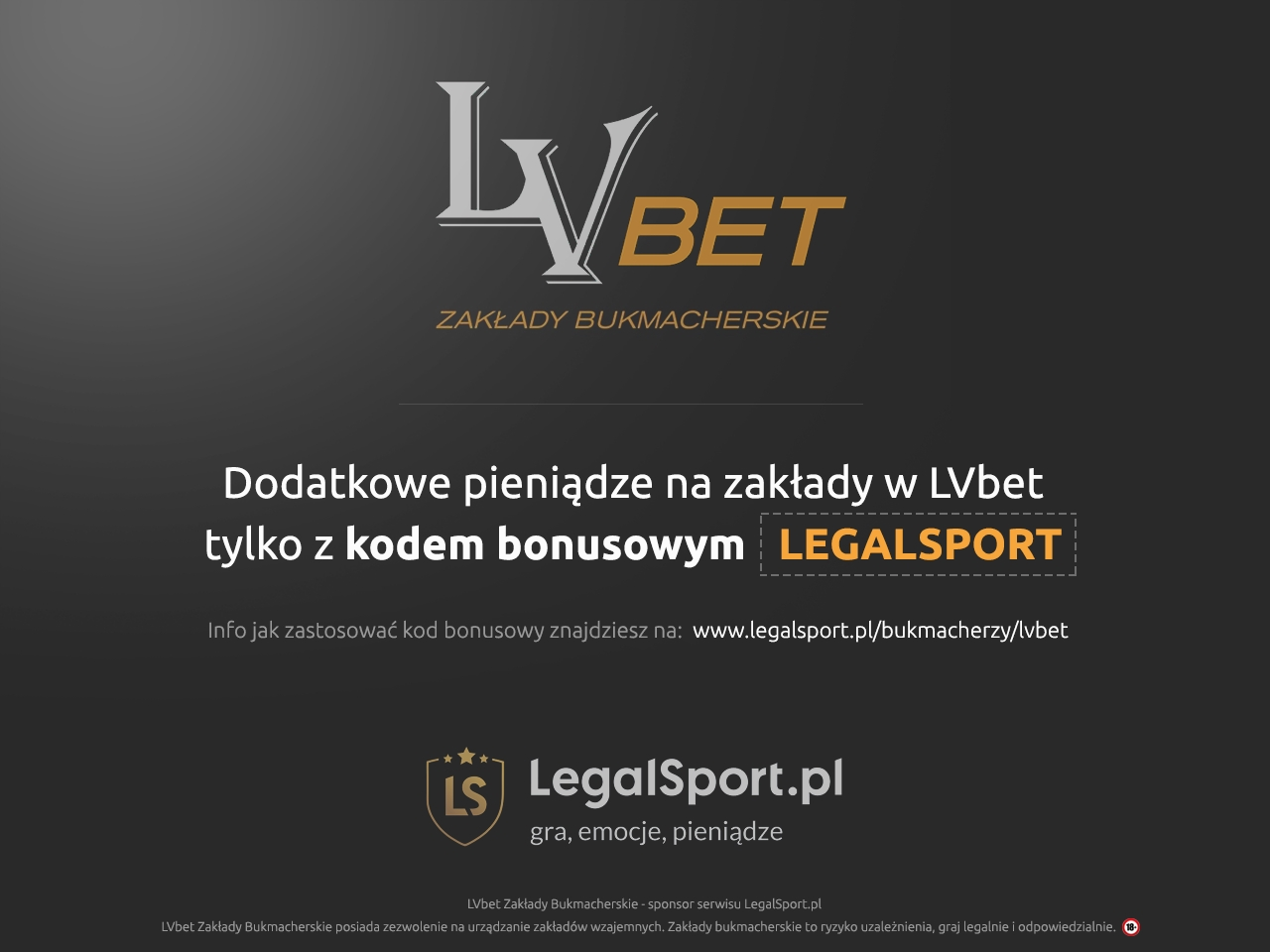 Bukmacher LVbet i kod promocji LEGALSPORT