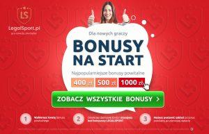 Kod rejestracyjny LEGALSPORT - bonusy powitalne