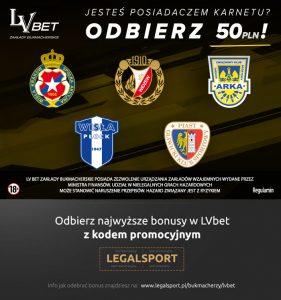 Bonus u bukmachera LV BET: 50 zł za klubowy karnet