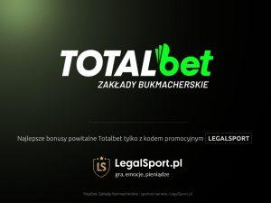 Podwojenie pierwszej wpłaty - nawet 500 zł u bukmachera TOTALbet