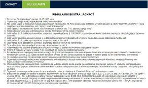 Screen regulaminu promocji u bukmachera forBET