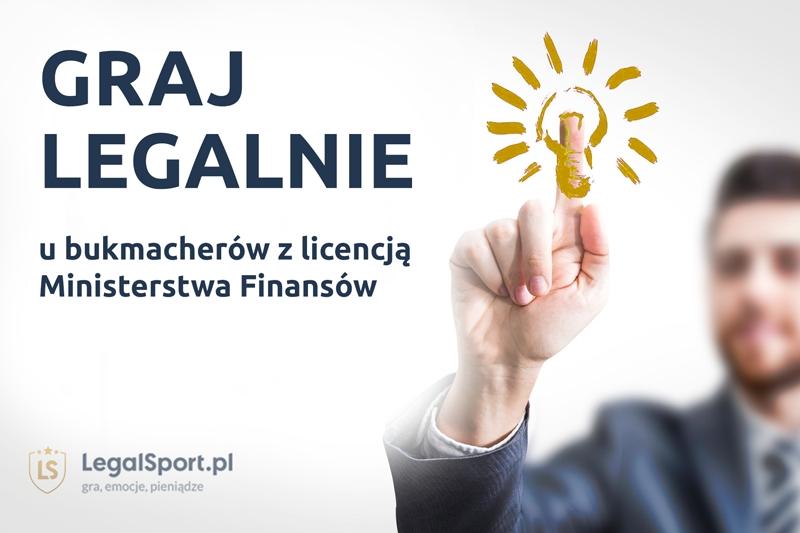 Legalna gra u bukmacherów z licencją MF - poleca LEGALSPORT