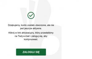 Darmowe konto gracza w TOTALbet - zakończenie pierwszego kroku rejestracji