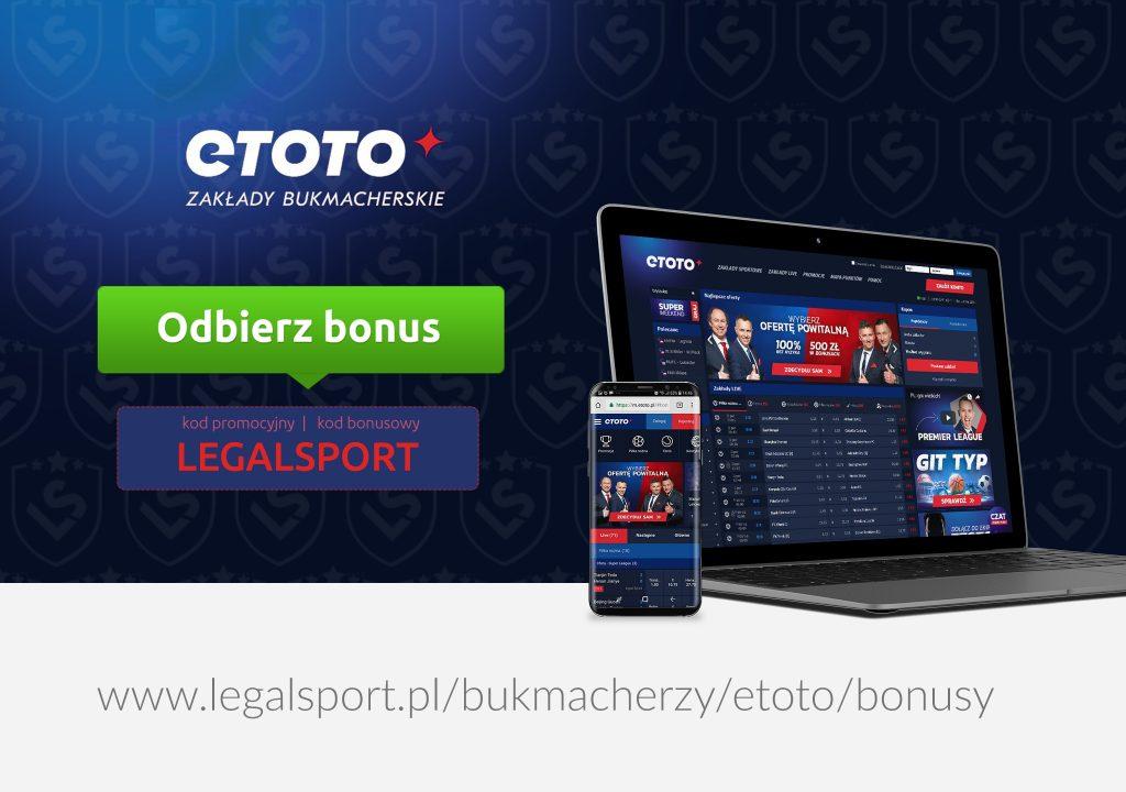 Bonus na start w eToto - nawet 2 100 zł