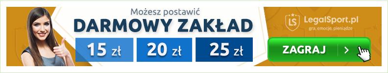 LEGALSPORT - bonusy bez depozytu na 85 zł